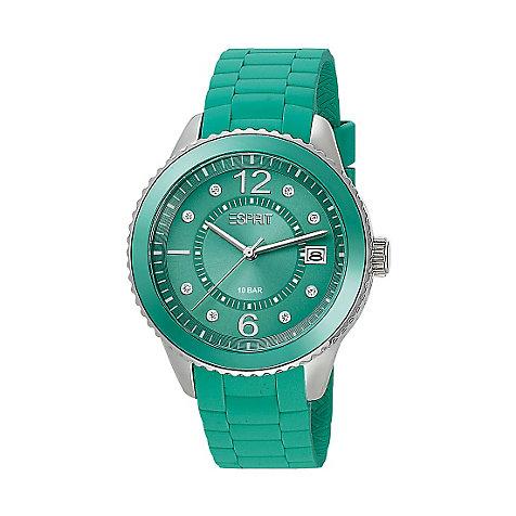 Esprit damenuhr marin 68 green es105342007