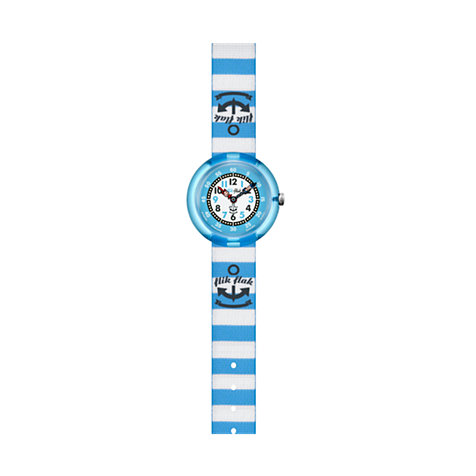 Flik Flak Kinderuhr Blue Stripes ZFTNP004