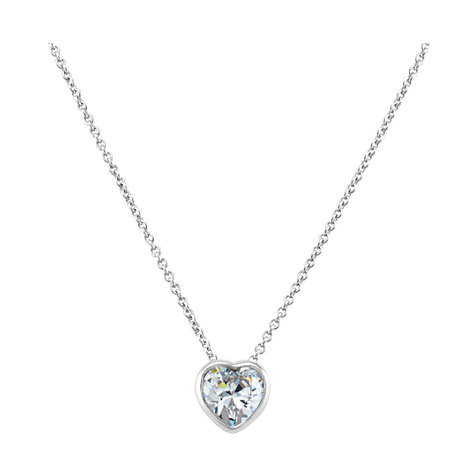 JETTE Silver Collier Solitaire Heart 86514389