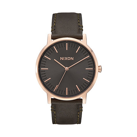 Nixon Damenuhr Porter Leather Rose Gold A1058-2441-00