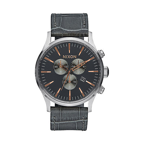 Nixon Herrenchronograph Sentry Chrono Leather A405 2145