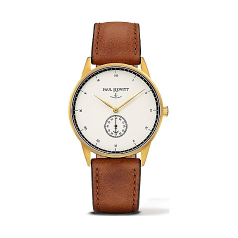 Paul Hewitt Signature Line Uhr Nautical Gold Mark I White Ocean PH-M1-G-W-1