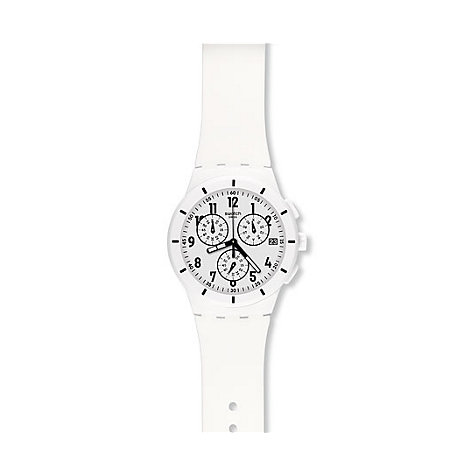 Swatch Chronograph Twice Again White SUSW402