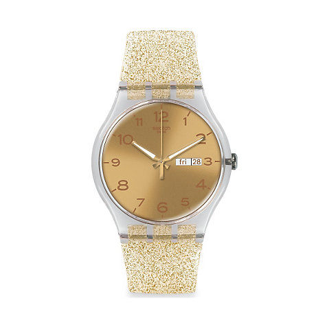 Swatch Damenuhr Golden Sparkle SUOK704