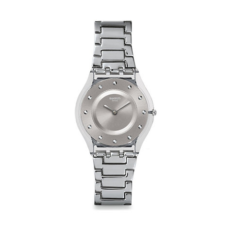 Swatch Damenuhr Silver Drawer SFK393G