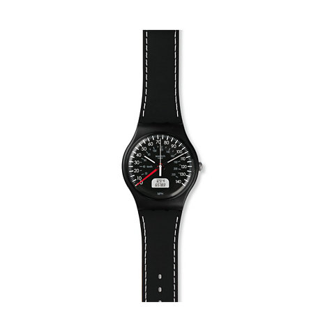 Swatch Herrenuhr Black Brake SUOB117