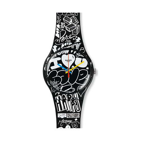 Swatch Herrenuhr Love Wall SUOB125