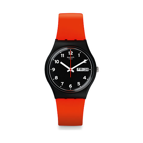 Swatch Herrenuhr Red Grin GB754