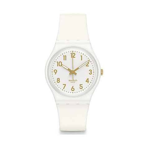 Swatch Herrenuhr White Bishop GW164