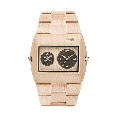 Wewood Herrenuhr Jupiter rs beige WW02011