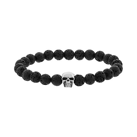 STEEL BY CHRIST Armband Gents Totenkopf 86802805