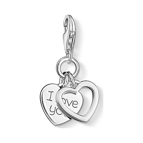 THOMAS SABO Charm Herzen I LOVE YOU 0852-001-12
