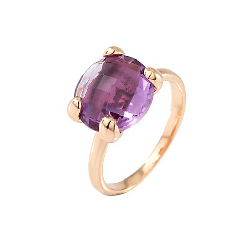 Bronzallure Damenring Faceted Amethyst WSBZ00013AM.-20