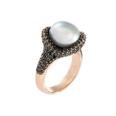 Bronzallure Damenring Fancy Ring Button Pearl WSBM00015-20