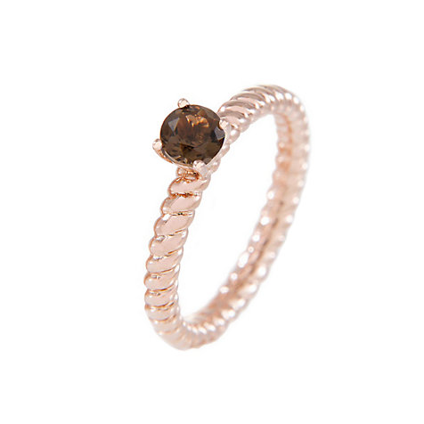 Bronzallure Damenring Stone Ribbed Band Ring WSBZ00553S.-16