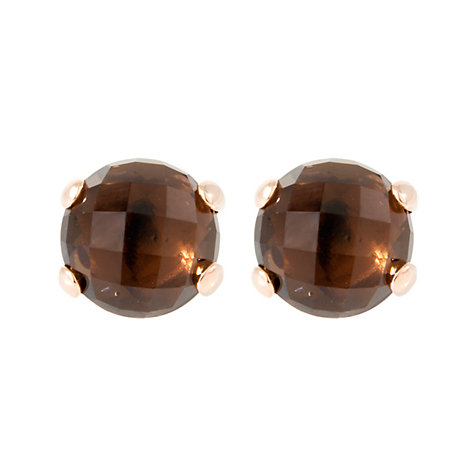 Bronzallure Ohrstecker Shiny Round Faceted Stone WSBZ00279.S