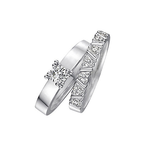 CHRIST Love Diamonds Damenring-Set 60036047