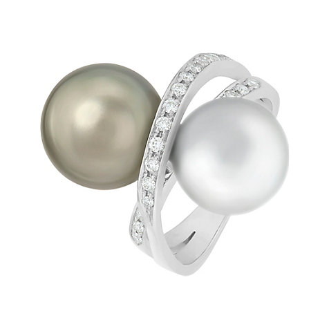 CHRIST Pearls Damenring 86331918