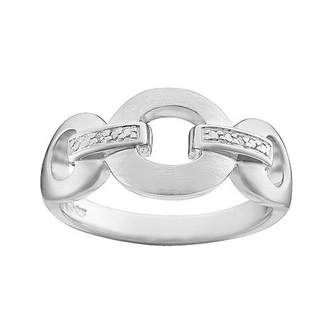 CHRIST Silver Diamonds Damenring