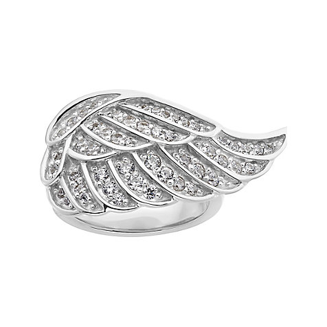 JETTE Silver Damenring Angelwing 60056293