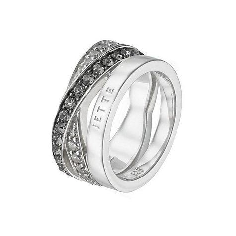 JETTE Silver Damenring Wrapping 60056528