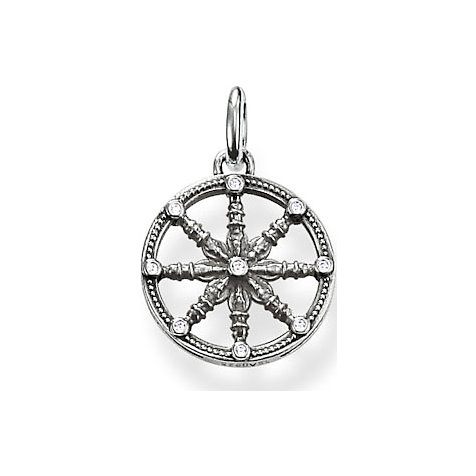 THOMAS SABO Anhänger Wheel of Karma KC0001-643-14