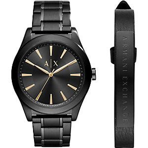 Armani Exchange Set Herrenuhr + Armband AX7102
