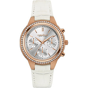 Caravelle New York Damenchronograph two tone perfection 44L214