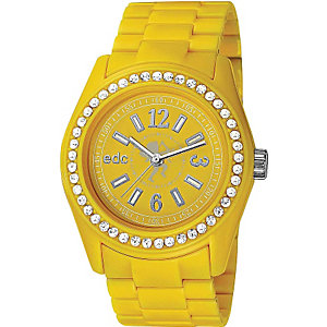 edc Damenuhr Disco Glam-Happy Yellow EE900172004