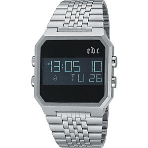 edc Herrenuhr Retro Digital Cool Silver EE100551001