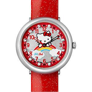 Flik Flak Kinderuhr Hello Kitty Red Rainbow FFL017