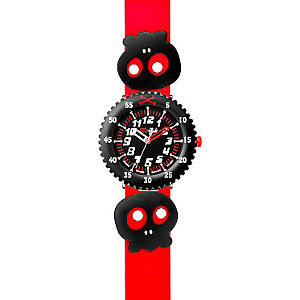 Flik Flak Kinderuhr Skully Bones Red FPS040