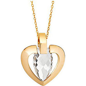 JETTE Gold Collier Rock Crystal