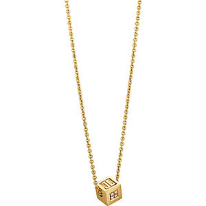 JETTE Gold GOLDEN CUBE Collier