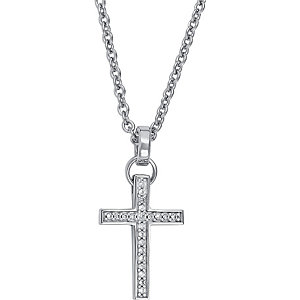 JETTE Silber Collier Sacred Cross