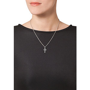 JETTE Silver SACRED CROSS Collier