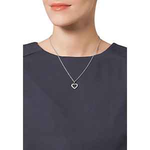 JETTE Silver SACRED HEART Collier