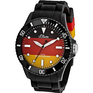 s.Oliver Herrenuhr Flaggenuhr SO-2464-PQ