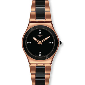 Swatch Damenchronograph Rose Pearl Black YLG123G