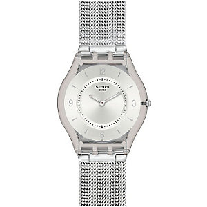 SWATCH Damenuhr Metal Knit SFM118M