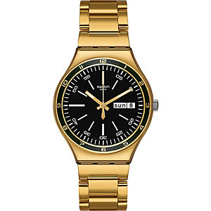 Swatch Herrenchronograph Charcoal Medal Yellow YGG705G