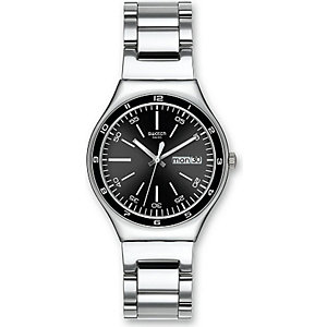 Swatch Herrenuhr Black Decency YGS749G