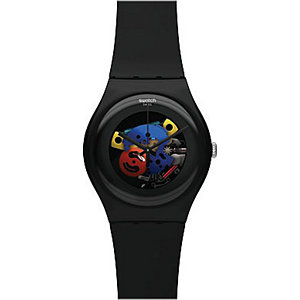 Swatch Unisexuhr Black Lacquered SUOB101