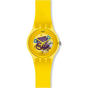 Swatch Unisexuhr Yellow Lacquered SUOJ100