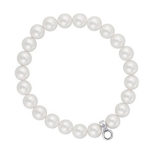 JETTE Charms PEARL Armband weiß