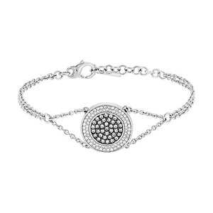JETTE Silver Armband Glam Paillettes 86914981