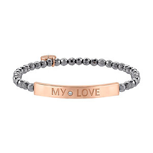 JETTE Silver Armband My Love 86952645