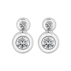 CHRIST Silver Diamonds Ohrstecker 87342883