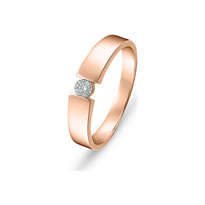 CHRIST Solitaire Damenring Rotgold