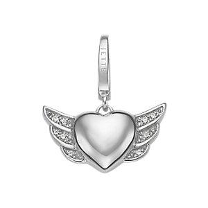 JETTE Charms Herz mit Flügeln
